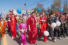 Πρωτοπόροι στην κινεζική γυμναστική WUSHU Στοκ εικόνα με δικαίωμα ελεύθερης χρήσης