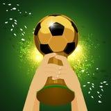 Πρωτοπόρος παγκόσμιου ποδοσφαίρου διανυσματική απεικόνιση