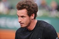 Πρωτοπόρος Andy Murray του Grand Slam μετά από τη δεύτερη στρογγυλή αντιστοιχία του στο Roland Garros 2015 Στοκ Εικόνες