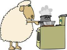 πρόβατα γευμάτων Στοκ Φωτογραφίες