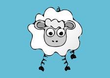 πρόβατα ενιαία διανυσματική απεικόνιση