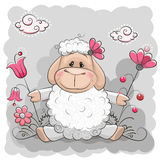 Πρόβατα με τα λουλούδια Στοκ φωτογραφίες με δικαίωμα ελεύθερης χρήσης
