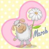 Πρόβατα με το λουλούδι Στοκ εικόνες με δικαίωμα ελεύθερης χρήσης