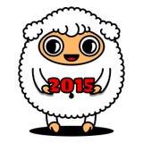 Πρόβατα με το σημάδι του 2015 Στοκ Εικόνες