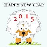 Πρόβατα Νέο έτος ευχετήριων καρτών Στοκ εικόνα με δικαίωμα ελεύθερης χρήσης