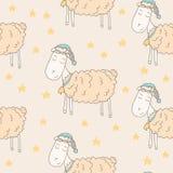 πρόβατα νυσταλέα Στοκ εικόνα με δικαίωμα ελεύθερης χρήσης