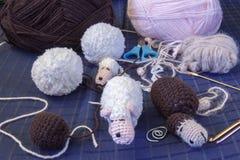 Πρόβατα Amigurimi Στοκ Εικόνες