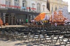 Πρόβα για το φεστιβάλ μουσικής σε Iquique, Χιλή Στοκ Φωτογραφία