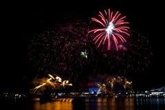 2016-07-02 πρόβα επίδειξης πυροτεχνημάτων εθνικής μέρας της Σιγκαπούρης Στοκ Εικόνες
