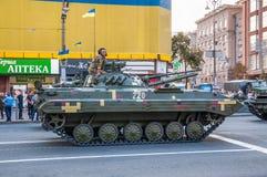 Πρόβες για τη στρατιωτική παρέλαση για τη ημέρα της ανεξαρτησίας Στοκ εικόνες με δικαίωμα ελεύθερης χρήσης
