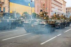 Πρόβες για τη στρατιωτική παρέλαση για τη ημέρα της ανεξαρτησίας Στοκ φωτογραφίες με δικαίωμα ελεύθερης χρήσης