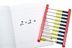 πρόβλημα μαθηματικών εκπαίδευσης Στοκ Φωτογραφία