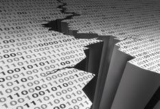 Πρόβλημα τεχνολογίας ρωγμών στοιχείων διανυσματική απεικόνιση