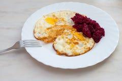Πρόγευμα, ανακατωμένα αυγά Στοκ Εικόνες