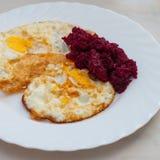 Πρόγευμα, ανακατωμένα αυγά Στοκ Φωτογραφίες