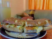 » Πρόγευμα αυγών απλό Bread†Στοκ φωτογραφία με δικαίωμα ελεύθερης χρήσης