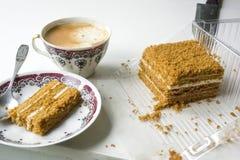 Πρόγευμα με ένα φλιτζάνι του καφέ στοκ εικόνα με δικαίωμα ελεύθερης χρήσης