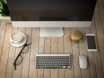 Πρόγευμα με μια τρισδιάστατη απεικόνιση υπολογιστών Στοκ φωτογραφίες με δικαίωμα ελεύθερης χρήσης