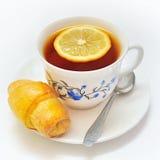Πρόγευμα με σπιτικό croissant Στοκ Εικόνες