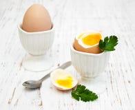 Πρόγευμα με τα αυγά Στοκ εικόνα με δικαίωμα ελεύθερης χρήσης