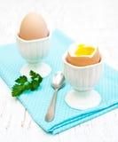 Πρόγευμα με τα αυγά Στοκ φωτογραφία με δικαίωμα ελεύθερης χρήσης