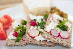 Πρόγευμα με τα φρέσκα λαχανικά Στοκ Εικόνες