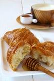 Πρόγευμα με croissant Στοκ Εικόνα