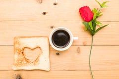 πρόγευμα ρομαντικό Στοκ φωτογραφία με δικαίωμα ελεύθερης χρήσης