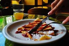 Πρόγευμα στο café Στοκ Εικόνες