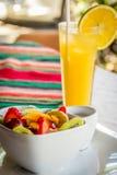 Πρόγευμα φρούτων και χυμού Στοκ Εικόνα