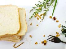 Πρόγευμα ψωμιού το πρωί στοκ φωτογραφία με δικαίωμα ελεύθερης χρήσης