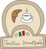 πρόγευμα doodle ιταλικά Στοκ εικόνα με δικαίωμα ελεύθερης χρήσης