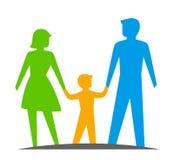 Πρόγονοι με ένα παιδί ελεύθερη απεικόνιση δικαιώματος