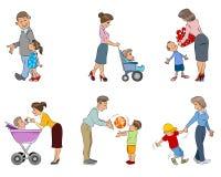 Πρόγονοι με τα παιδιά ελεύθερη απεικόνιση δικαιώματος