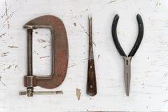 Πρόγραμμα έννοιας χόμπι λέξης DIY που συντίθεται από τα εκλεκτής ποιότητας εργαλεία Στοκ Εικόνα