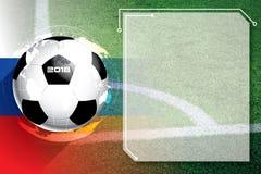 Πρόγραμμα ανταγωνισμού ποδοσφαίρου ποδοσφαίρου υποβάθρου στοκ φωτογραφία
