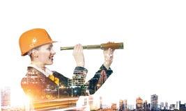 Πρόγραμμα βιομηχανικής ανάπτυξης Μικτά μέσα Στοκ Φωτογραφίες