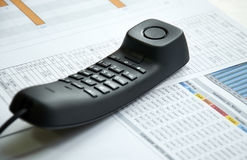 Πρόγραμμα επιχειρησιακών τηλεφώνων Στοκ Εικόνα