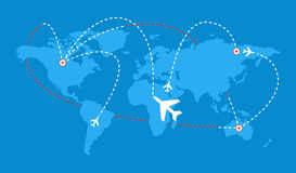Πρόγραμμα πτήσεων Στοκ εικόνα με δικαίωμα ελεύθερης χρήσης