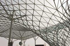 Πρόγραμμα υλικού κατασκευής σκεπής του Μιλάνου Fiera στοκ εικόνα