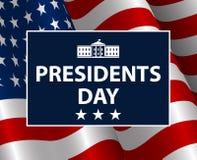 Πρόεδροι Day στο ΑΜΕΡΙΚΑΝΙΚΟ υπόβαθρο Εορτασμός των Ηνωμένων Πολιτειών της Αμερικής διανυσματική απεικόνιση