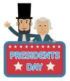 Πρόεδροι Day Clip-art Στοκ Φωτογραφία