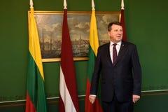 Πρόεδρος της Δημοκρατίας της Λετονίας Raimonds Vejonis Στοκ Φωτογραφίες