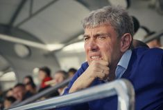 Πρόεδρος του fc Krasnodar Sergei Nikolaevich Galitskiy στην αντιστοιχία της λέσχης στοκ εικόνες με δικαίωμα ελεύθερης χρήσης