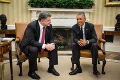 Πρόεδροι Barack Obama και Petro Poroshenko Στοκ εικόνες με δικαίωμα ελεύθερης χρήσης