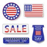 Πρόεδροι Day Icons Στοκ Εικόνες