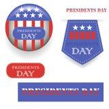 Πρόεδροι Day Icons Στοκ Φωτογραφίες