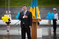 Πρόεδρος της Ουκρανίας Petro Poroshenko κατά τη διάρκεια του εορτασμού Στοκ φωτογραφία με δικαίωμα ελεύθερης χρήσης