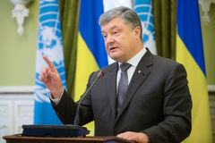 Πρόεδρος της Ουκρανίας Petro Poroshenko Στοκ φωτογραφία με δικαίωμα ελεύθερης χρήσης