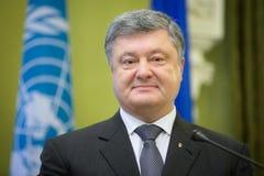 Πρόεδρος της Ουκρανίας Petro Poroshenko Στοκ Εικόνα